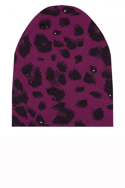 William Sharp pink leopard print hat