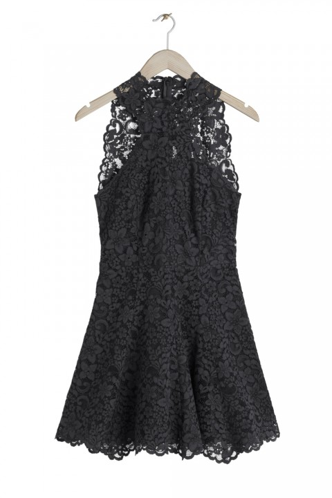 & Other Stories Black Lace Dress