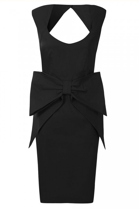 Dorothy Perkins Black Sleeveless Large Bow Dress