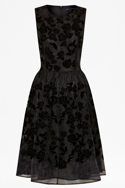 French Connection Velvetine Rose Flower Dress
