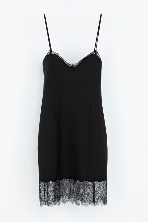 Zara Fitted Lingerie Style Dress