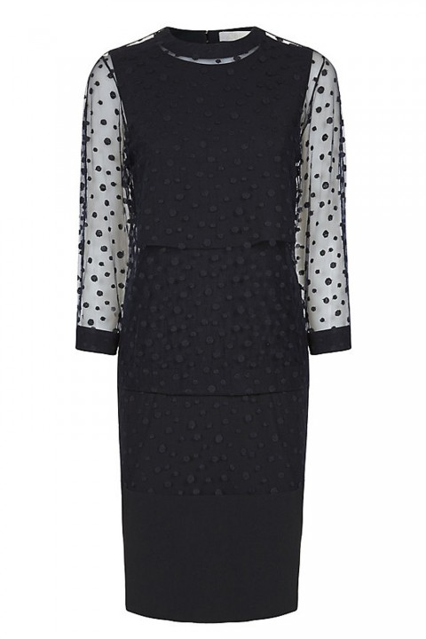 Dotted arm detail black dres