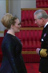 Adele looks lovely in Stella McCartney as she collection her MBE