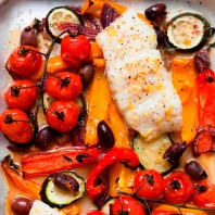 Healthy recipe for oven baked cod provencal