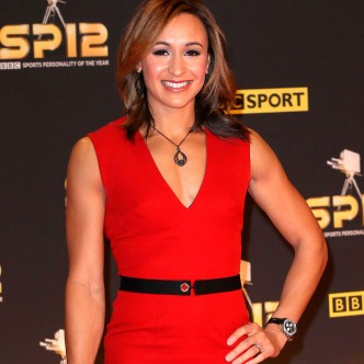 Jessica Ennis wearing a Victoria Beckham dress on the red carpet