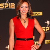 Jessica Ennis wearing a Victoria Beckham dress on the red carpet
