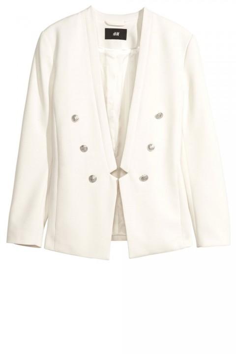 H&M White Blazer, £29.99
