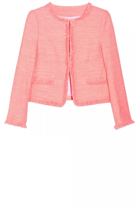 Alice & Olivia Cropped Boucle Jacket, £232.50