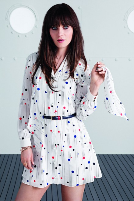 Zooey Deschanel models her first collection for Tommy Hilfiger
