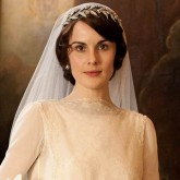 Downton Abbey's Lady Mary on her wedding day