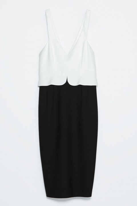 Zara Two Tone Peplum Dress