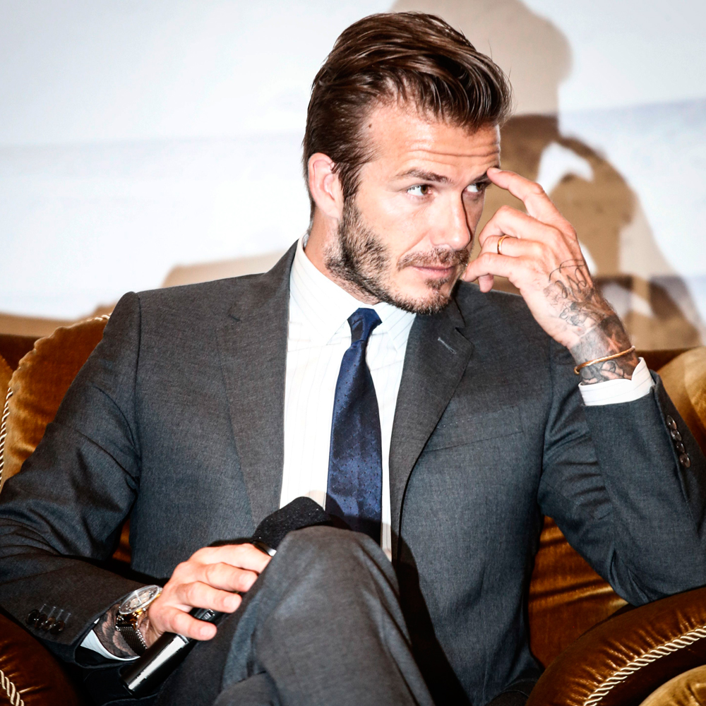 David beckham a life in pictures celebrity pictures marie claire for David beckham