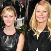 Gwyneth Paltrow and Reese Witherspoon at the Hugo Boss runway show