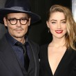 Johnny Depp and Amber Heard at the 3 Days to Kill premiere