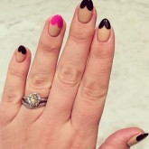 Valentine's Day manicures: Celebrities are wearing heart-tipped nails.