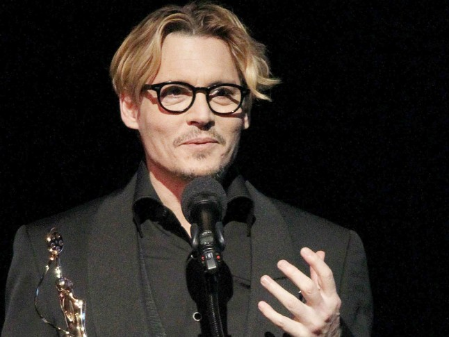 Johnny Depp Shows Off His Blonde Hair | Marie Claire