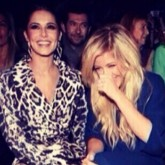 Cheryl Cole and Ellie Goulding at Roberto Cavalli