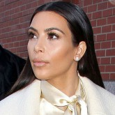 Kim Kardashian wears the head-to-toe colour fashion trend