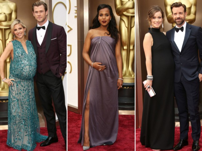 These Pregnant Stars Dressed Up Their Bumps For The Oscars