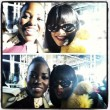 Lupita Nyong'o and Rihanna at Miu Miu, Paris Fashion Week