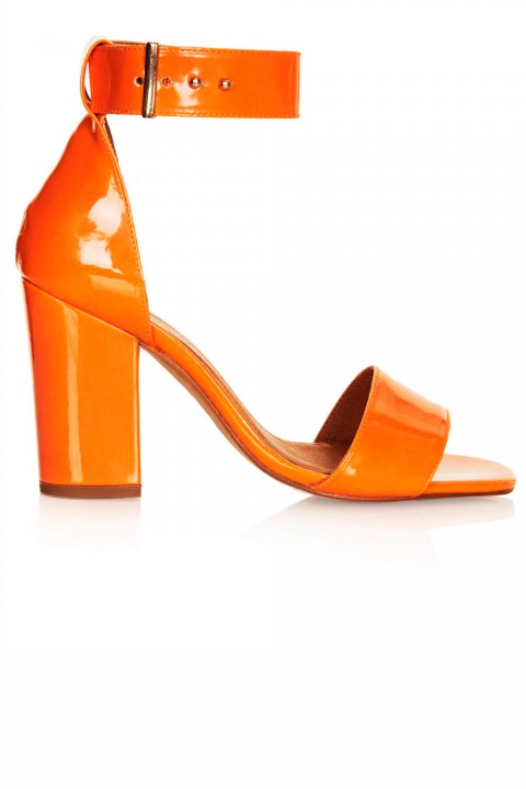 Topshop Orange Patent Sandals, £55