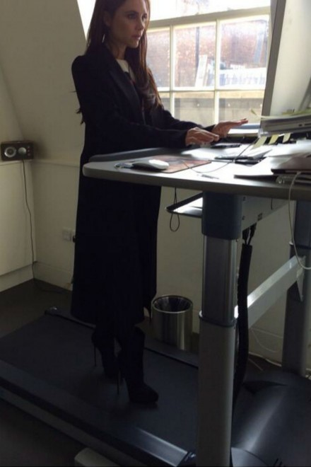 Victoria Beckham treadmill desk
