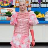 Model walkin in the Chanel AW14 show