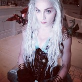 Madonna dressed up as Daenerys Targaryen from Game of Thrones