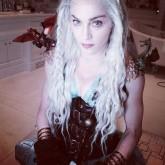 Madonna dressed up as Daenerys Targaryen from Game of Thrones