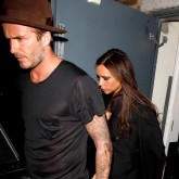 Davd and Victoria Beckham at Victoria Beckham's 40th birthday party