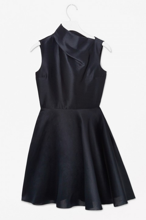 Cos Asymmetric Neckline Dress
