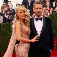 Blake Lively and Ryan Reynolds wearing Gucci at the Met Ball 2014