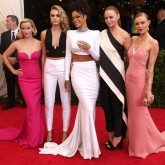 Rihanna, Cara Delevingne, Reese Witherspoon, Kate Bosworth and Stella McCartney on the 2014 Met Ball red carpet