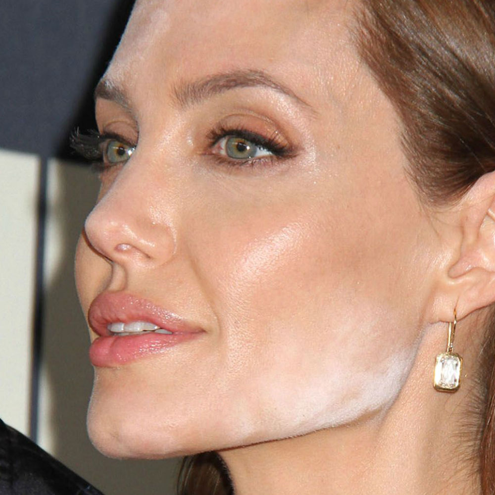 Angelina Jolie Makeup Mistake