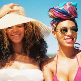 Beyonce and Solange Knowles on Instagram