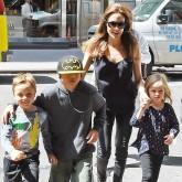 Angelina Jolie takes her kids to the FAO Schwarz