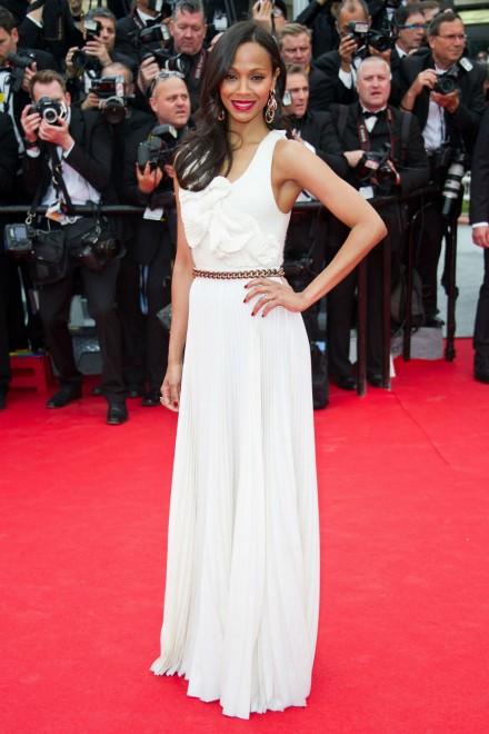 Zoe Saldana wears Victoria Beckham to Cannes Film Festival