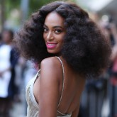 Solange curly hair