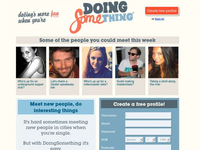 Doing something dating site