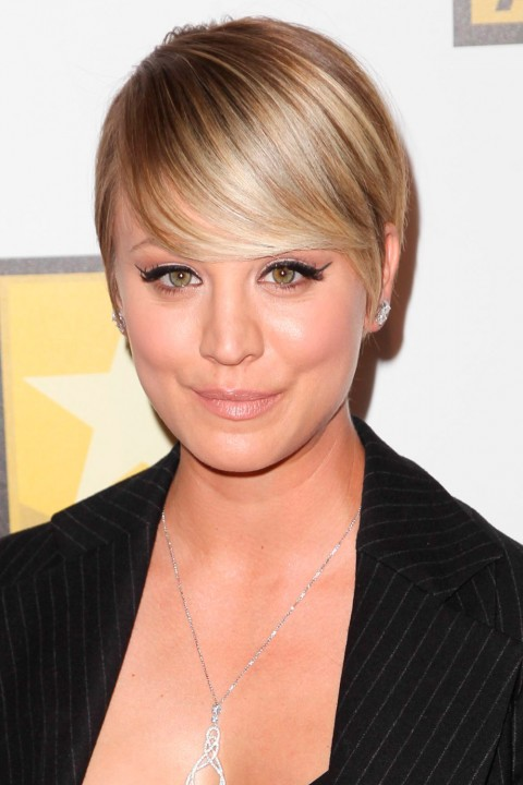 Kayley Cuoco with short hair
