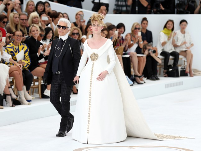 Chanel Couture Does Maternity Bridalwear