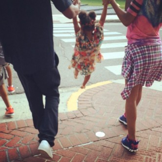 Beyonce, Jay Z and Blue Ivy on holiday