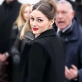 Photo of Oliva Palermo wearing liquid eyeliner