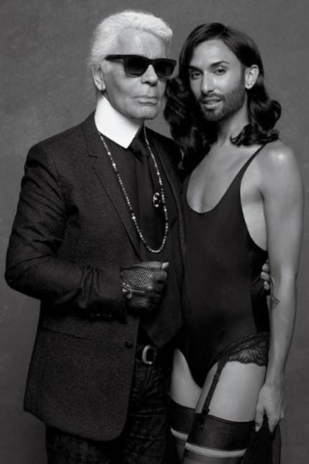 Conchita Wurst Jean Paul Gaultier Karl Lagerfeld