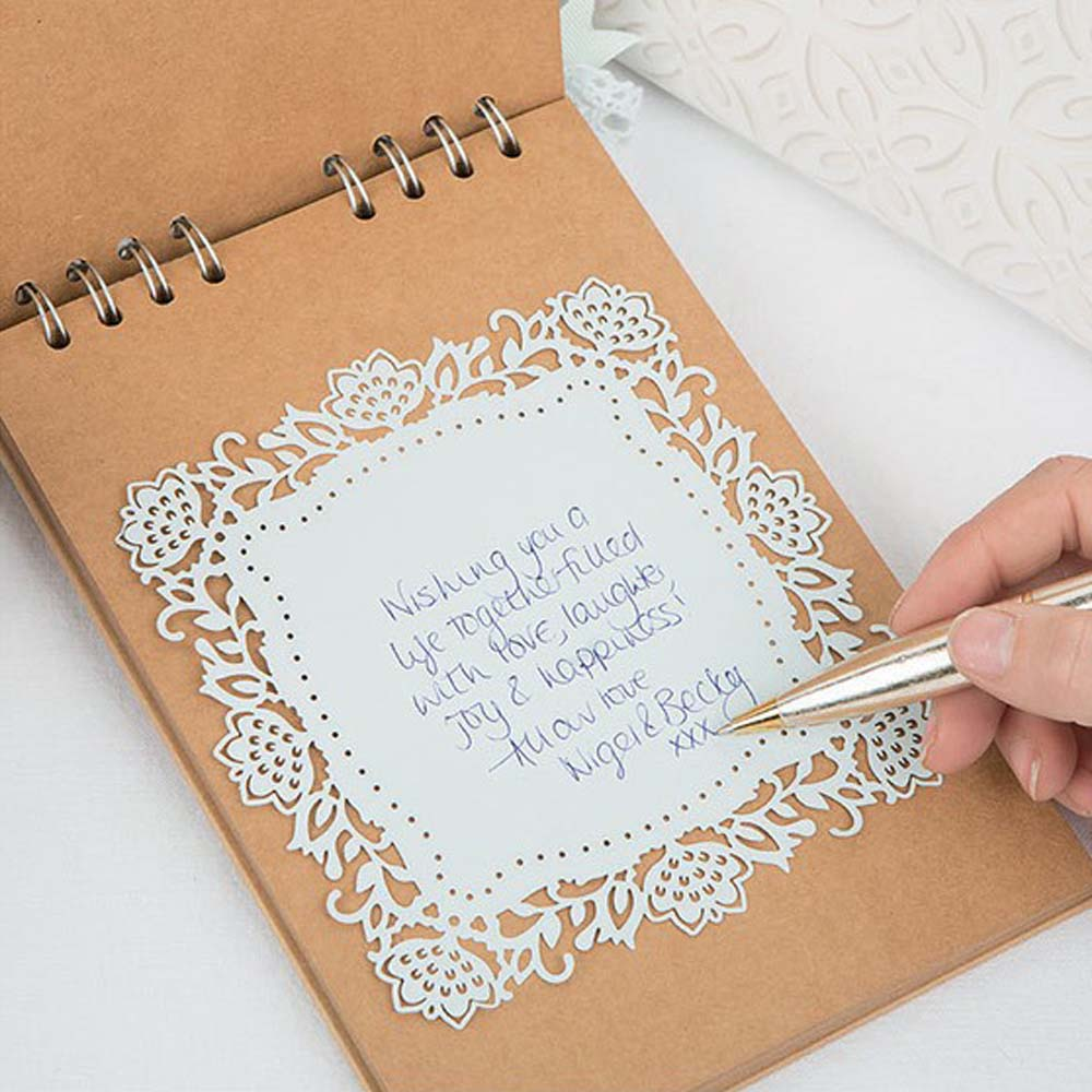 Wedding Guest Book Cover Diy ~ Off wedding guest book kit marie claire