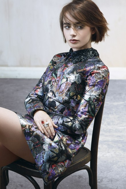 lily collins marie claire