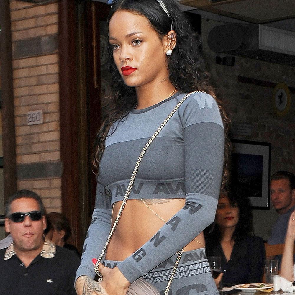 Rihanna in Alexander Wang x