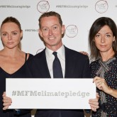 Photo of Stella and Mary McCartney at the Meat Free Monday Pledge