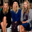 Laura Whitmore, Mary Charteris and Donna Air on the front row at London Fashion Week SS15