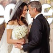 George Clooney and Amal Alamuddin Wedding Dress